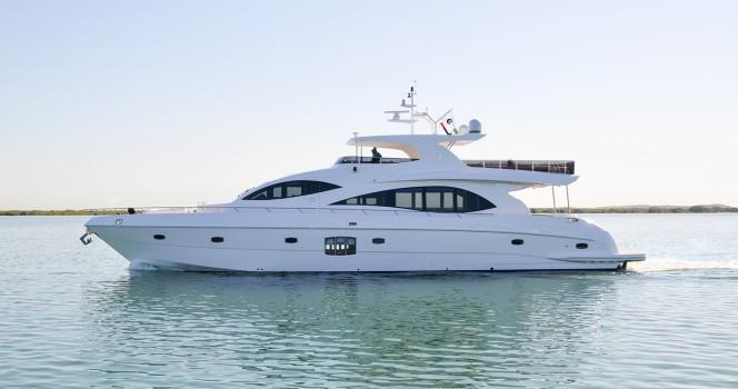 Majesty 88. Яхта класса Люкс
